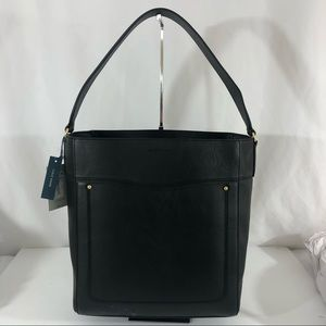 Cole Haan Black Leather Tote NWT